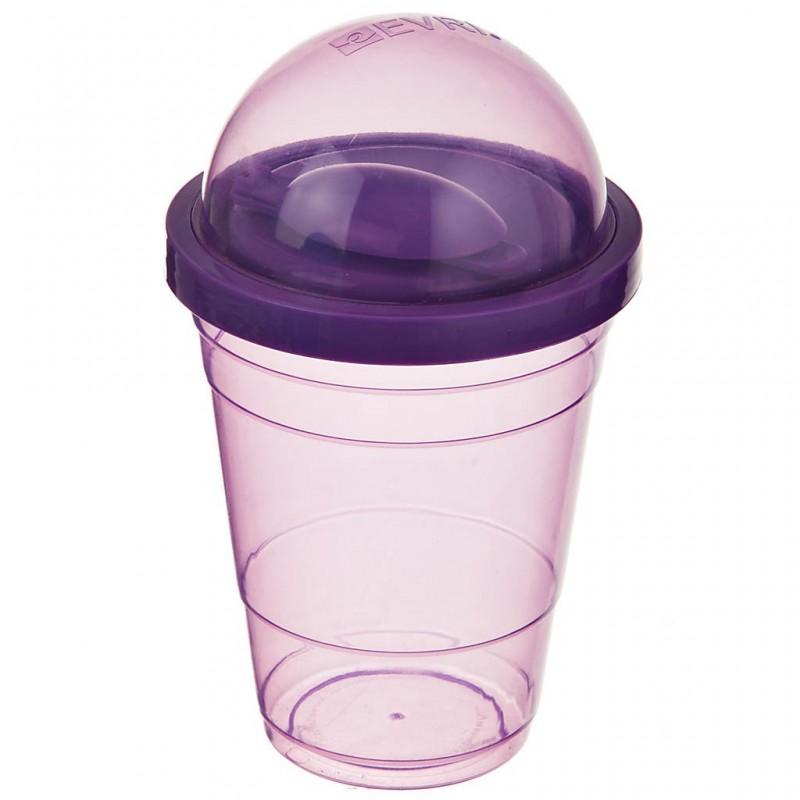 Vaso para yogurt con cuchara de plástico Surtido Evriholder