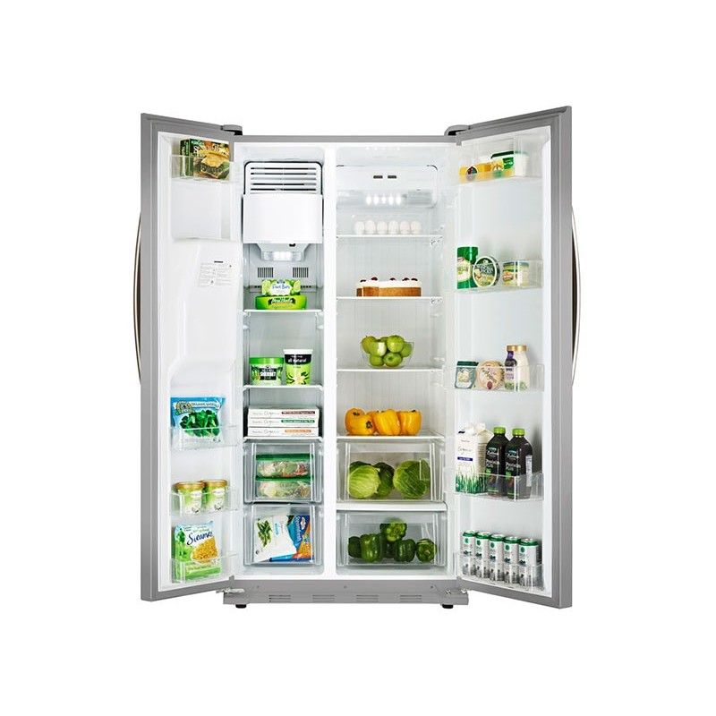 Refrigerador acero side by side 20' con dispensador Electrolux