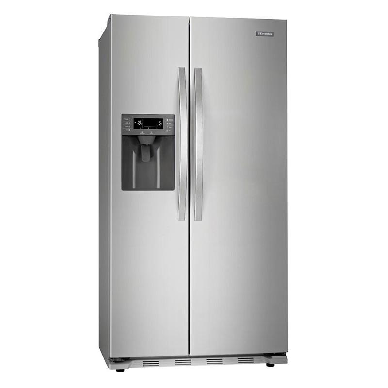 Refrigerador acero side by side 20' con dispensador Electrolux