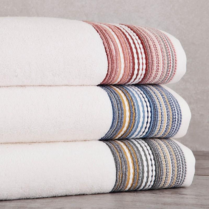 Toalla de baño Beige Rayas 140x70 cm 100% algodón Sousa Dias