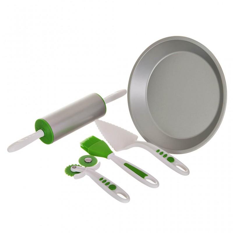 Juego de 5 piezas molde para pie con utensilios de repostería Curious Chef