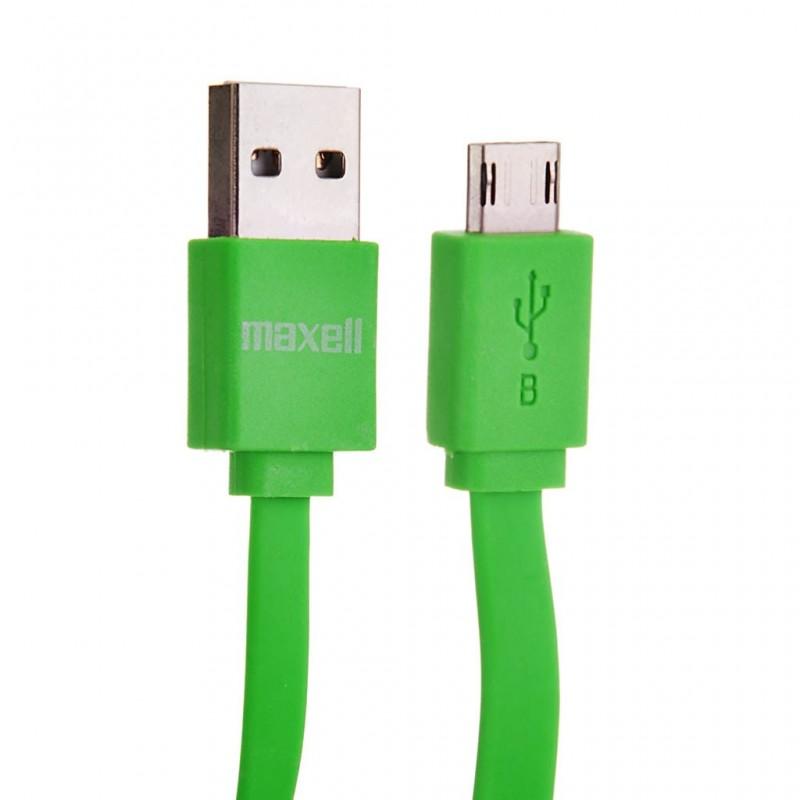 Cargador con cable plano micro USB MUSB-600 Maxell