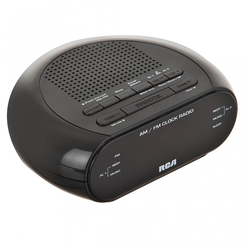 Radio reloj despertador AM / FM RCA