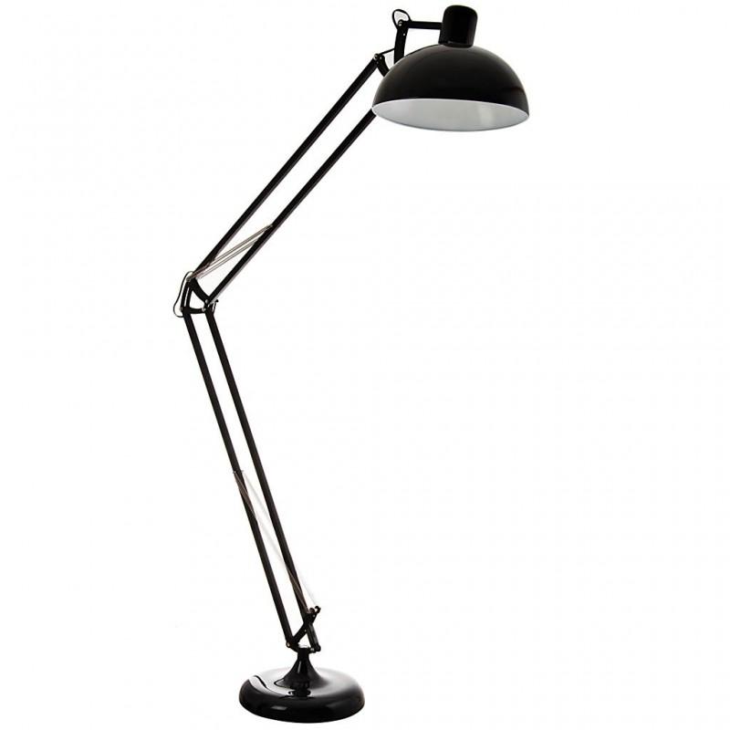 Lámpara de piso con pantalla redonda