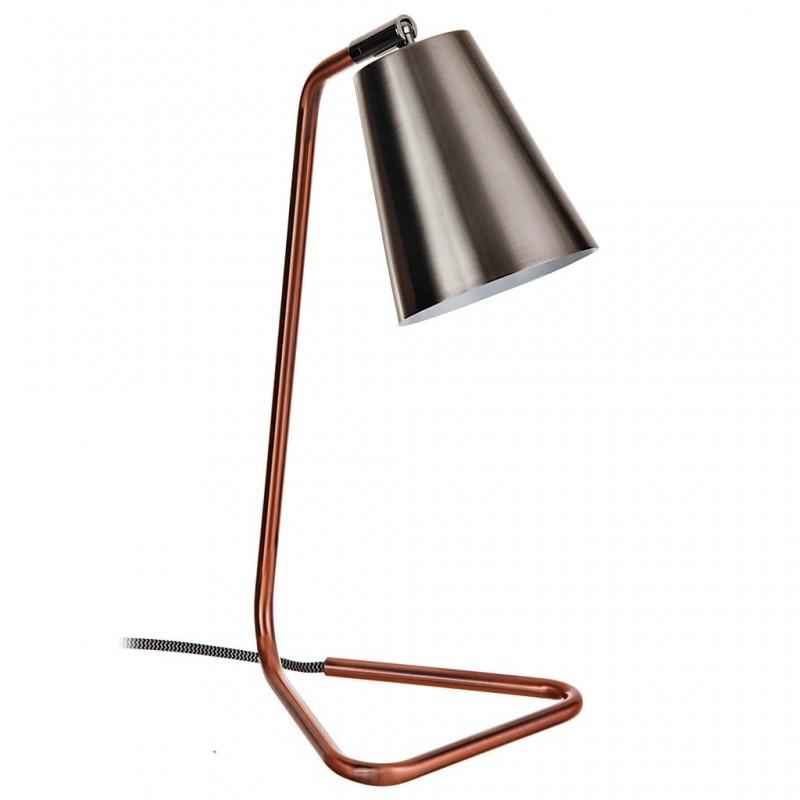 Lámpara de mesa cobre con pantalla cónica