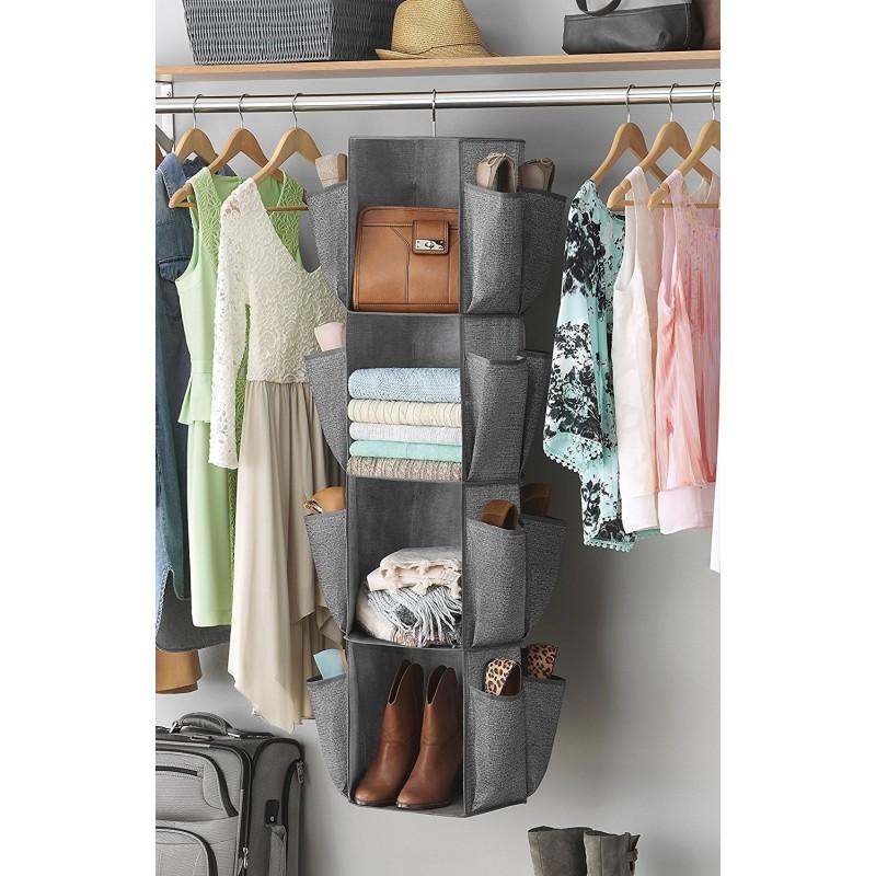 Organizador rotatorio de closet para ropa y zapatos Whitmor