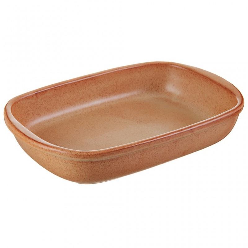 Fuente de cerámica vitrificada Tabacco Natural De Silva Ceramiche