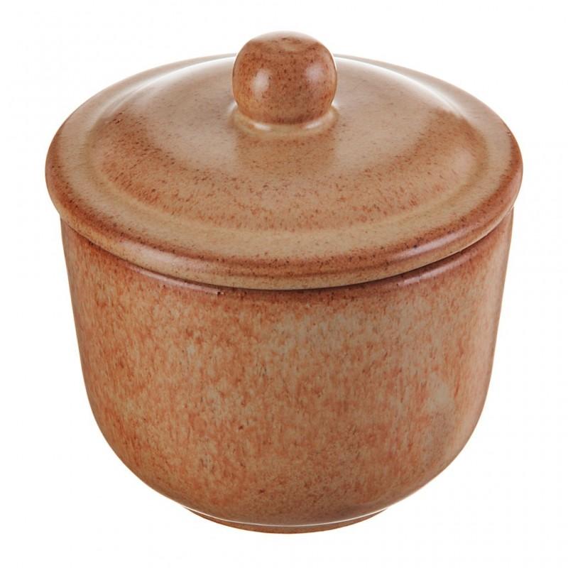 Azucarera con tapa de cerámica vitrificada Tabacco Natural De Silva Ceramiche