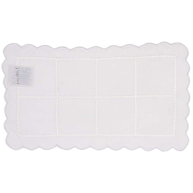 Tapete rectangular Cuadros Calado 100% algodón Haus