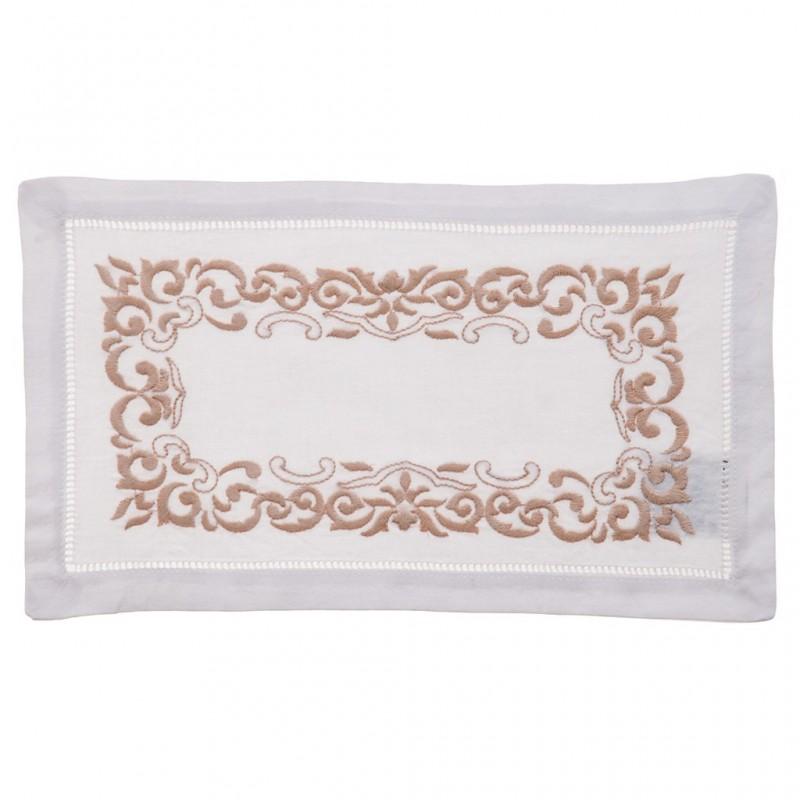 Tapete rectangular Bordado 100% algodón Haus