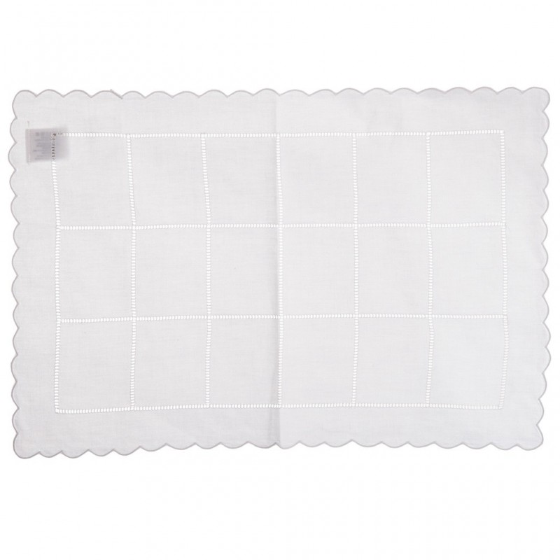 Individual rectangular Cuadros Calado 100% algodón Haus
