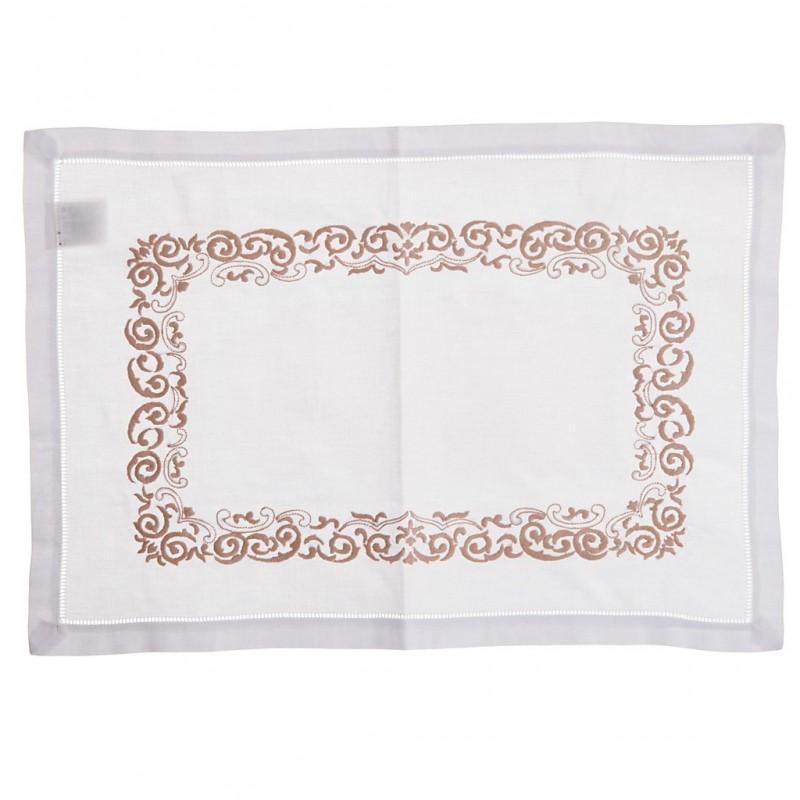 Individual rectangular Bordado 100% algodón Haus