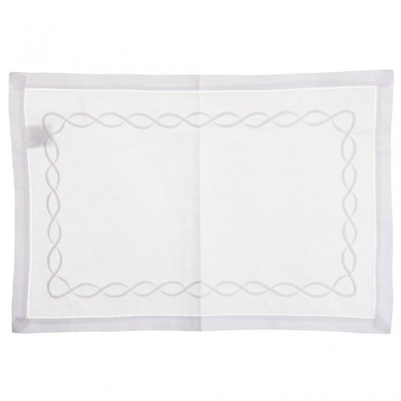 Individual rectangular Bordado Cordón 100% algodón Haus
