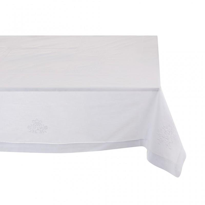 Mantel Bordado Hojas 100% algodón Haus