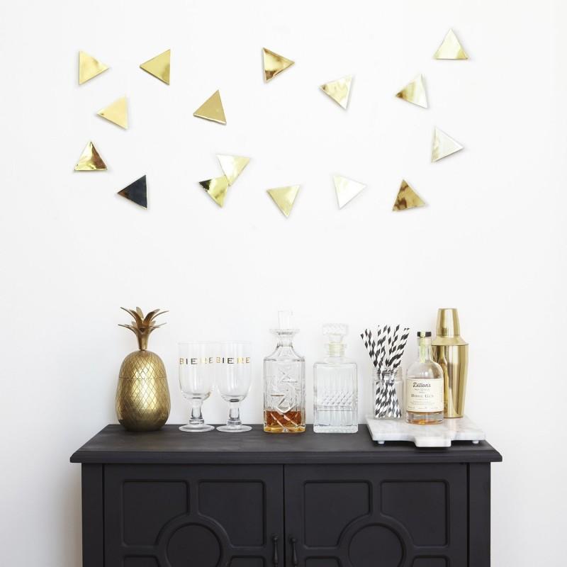 Juego de 16 apliques para pared Confetti Triangles Umbra