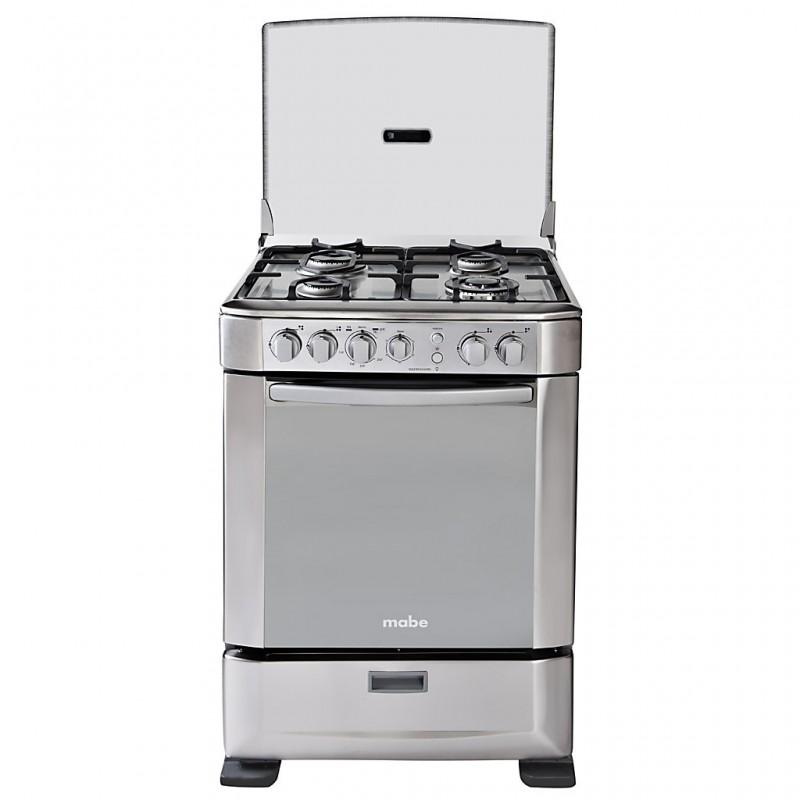 """Cocina a gas con grill, timer, rosticero y termostato 4 quemadores 24"""" INGENIOUS6095EX0 Mabe"""