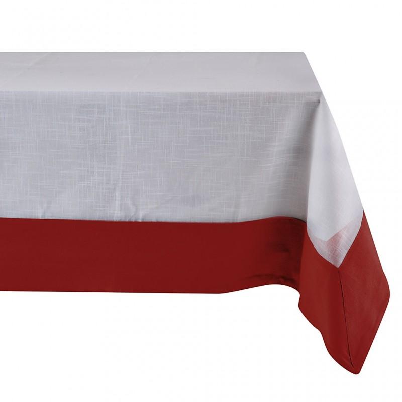 Mantel Blanco con Borde 100% algodón Haus