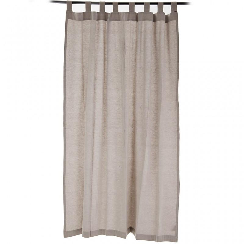 Cortina decorativa Lino 100% algodón Haus