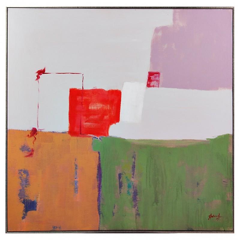 Cuadro con marco Abstracto 80 x 80 cm