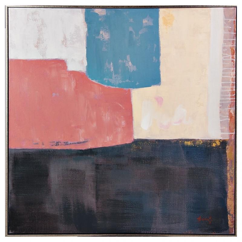 Cuadro con marco Abstracto Multicolor 80 x 80 cm
