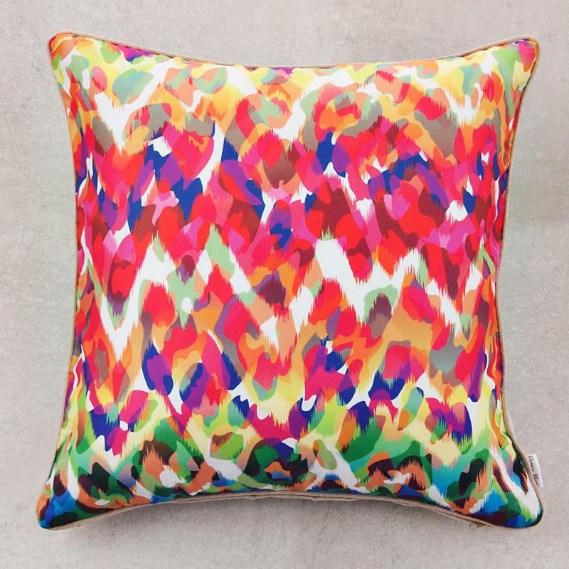 Forro para cojín Animal Print Multicolor 100% algodón Ocean Blue