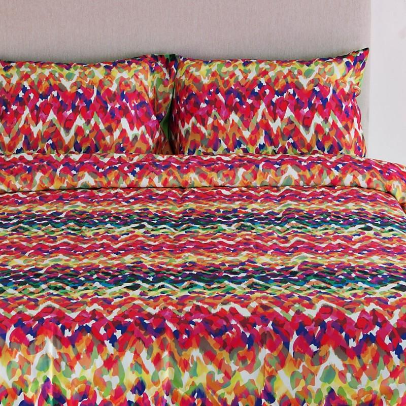 Juego de duvet Animal Print Multicolor 250 hilos 100% algodón Ocean Blue