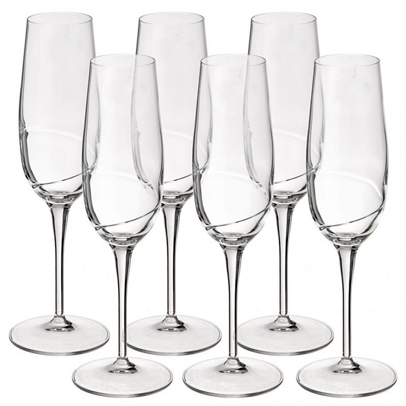 Juego de 6 copas para champagne Academia del Vino Bormioli