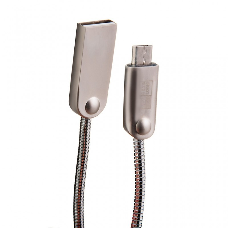 Cable metálico Micro USB Case Logic