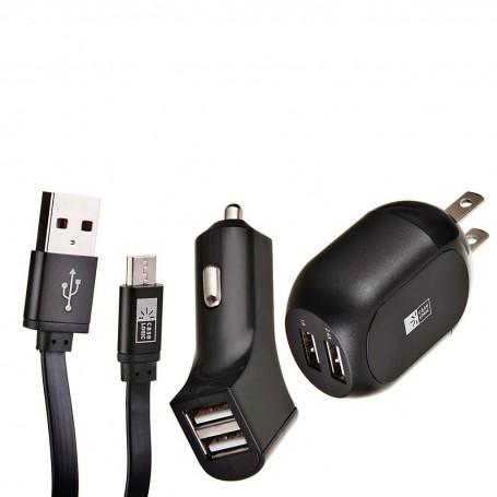 Cargador para pared y auto con cable Micro USB Case Logic