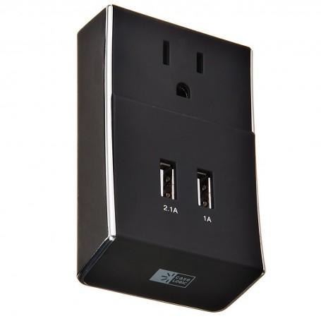Placa de pared con 2 puertos USB Case Logic