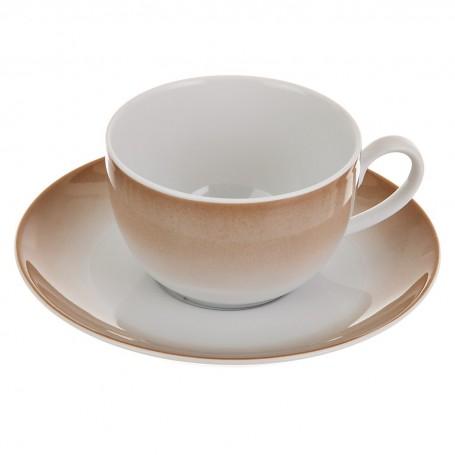 Juego de taza y plato Borde Ćmielów
