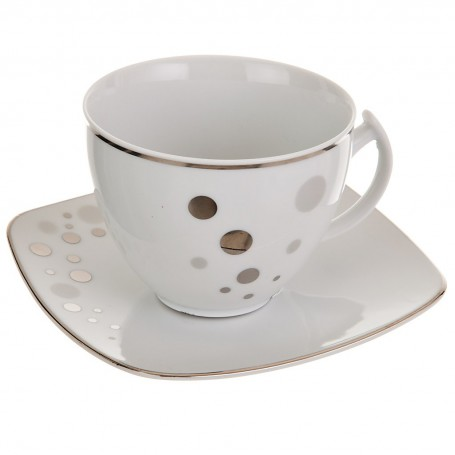 Juego de taza y plato Puntos Ćmielów