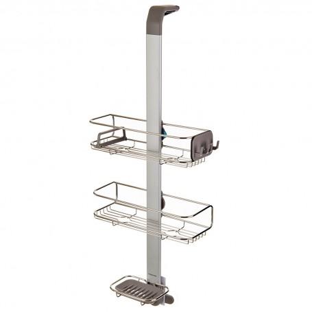 Organizador para ducha ajustable con gancho Simplehuman