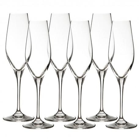 Juego de 6 copas para champagne Passion Krosno Glass