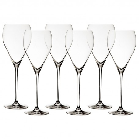 Juego de 6 copas para agua Elegance Krosno Glass