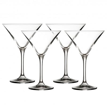 Juego de 4 copas Martini Drinks Krosno Glass