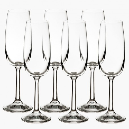 Juego de 6 copas para champagne Basic Krosno Glass