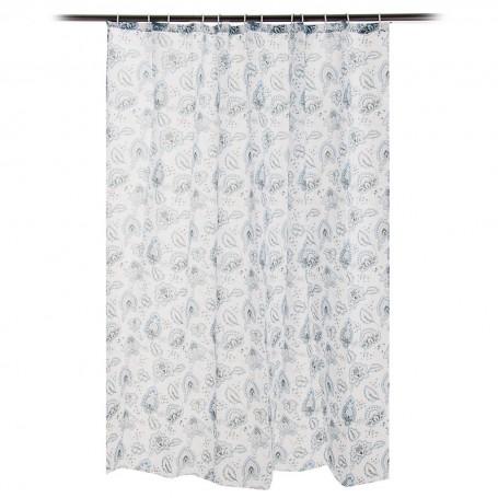 Cortina para baño con 12 ganchos Mr. Jacob