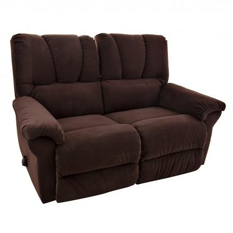 Sofá reclinable con manija 2 puestos