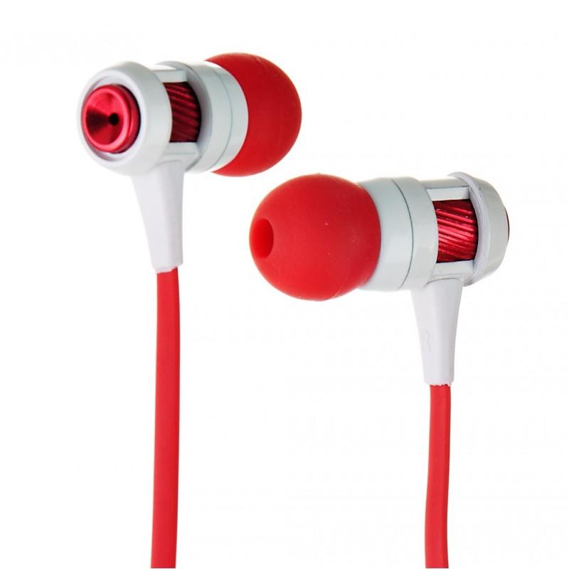 Audífonos con micrófono Blanco / Rojo Case Logic
