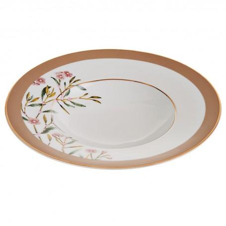 Plato para sopa de porcelana Flores Amber Spal
