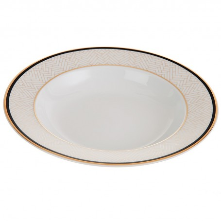 Plato para sopa de porcelana Art-Deco Spal