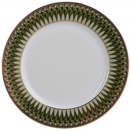 Plato tendido de porcelana Oliva Spal