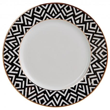 Plato para postre de porcelana Art-Deco Spal