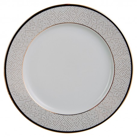 Plato base de porcelana Art-Deco Spal