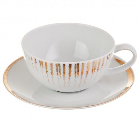 Juego de taza y plato para té Glee Spal