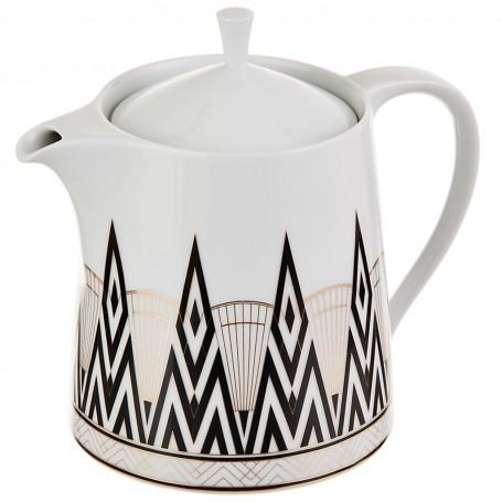 Tetera con tapa de porcelana Art-Deco Spal