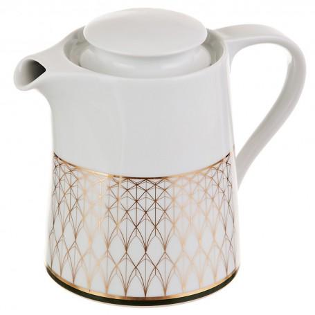 Tetera con tapa de porcelana Oliva Spal