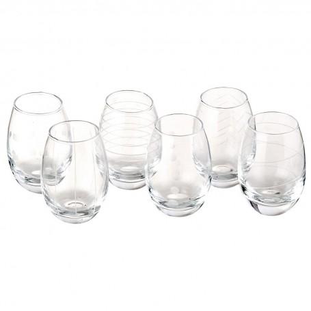 Juego de vasos de vidrio para postre Novo
