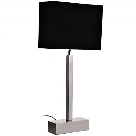 Lámpara de mesa Silver con pantalla rectangular